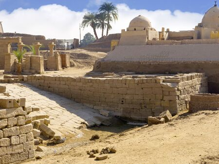 The Ancient Temple Complex of Karnak near Luxor in the Nile Valley in Egypt