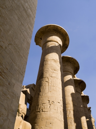 holies: Hypostyle hall in Karnak temple in Egypt Editorial