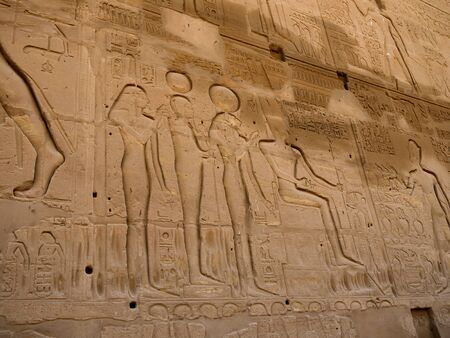 holies: Carving of the Battle of Kadesh on the walls of the Temple at Karnak Egypt