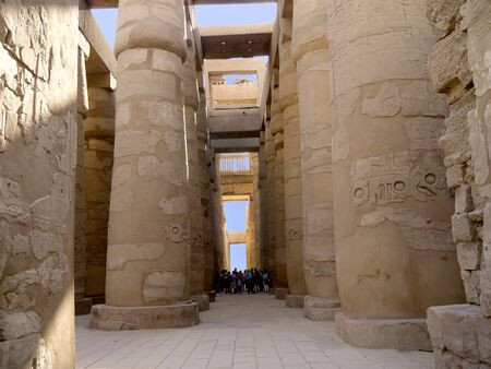Hypostyle hall in Karnak temple in Egypt Stock Photo
