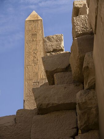 holies: The Ancient Temple Complex of Karnak near Luxor in the Nile Valley in Egypt