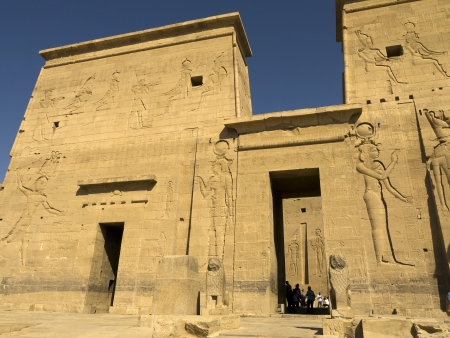 The Temple to Isis, Horus and Osiris on Philae Island on the River Nile in Egypt