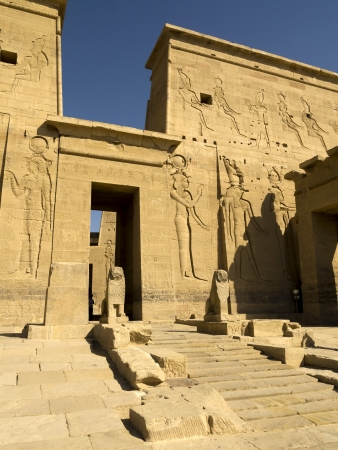 The Temple to Isis, Horus and Osiris on Philae Island on the River Nile in Egypt photo