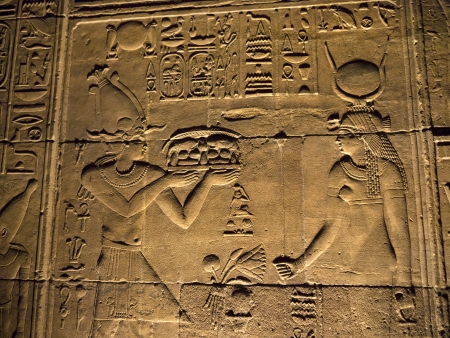 thebes: The Temple to Isis, Horus and Osiris on Philae Island on the River Nile in Egypt