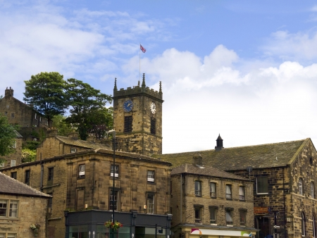 eacute: church in Holmfirth, the Last of the Summer Wine Country Yorkshire England Stock Photo