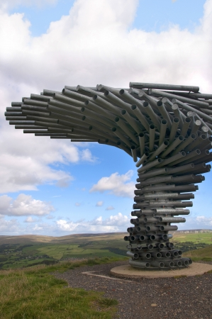 moors: The Singing Ringing Tree Panopticon high on the moors above Burnley  in Lancashire in Northern England Editorial