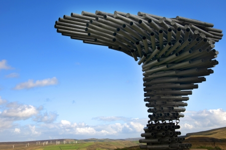 The Singing Ringing Tree Panopticon high on the moors above Burnley  in Lancashire in Northern England Editorial