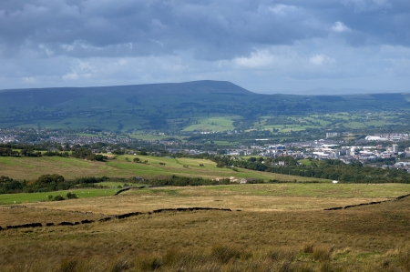 burnley: Pendle Hill from Burnley Lancashire