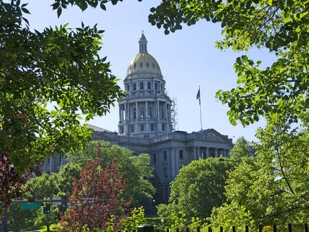 mile high city: the State House in Denver Colorado USA Stock Photo
