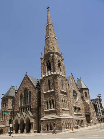 capital of colorado: Church in the City  of Denver which is the capital and the most populous city of the U S  state of Colorado   Stock Photo