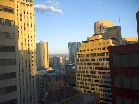 Cityscape of Denver Colorado USA photo