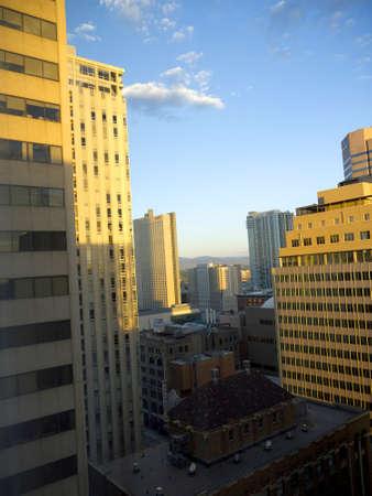 mile high city: Cityscape of Denver Colorado USA Stock Photo