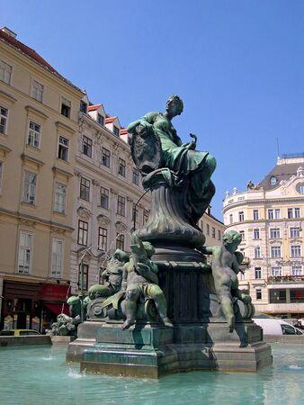 donner: Donner Fountain in Neue Markt Donner Fountain in Neue Markt Vienna Austria Stock Photo