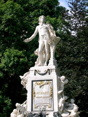 mozart: Statue of Mozart in Vienna Austria Stock Photo