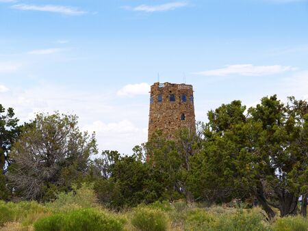 Desert View Watchtower was built in 1932 and is one of Mary Jane Colter s best-known works  Situated at the South Rim  It is designed to mimic an Anasazi watchtower