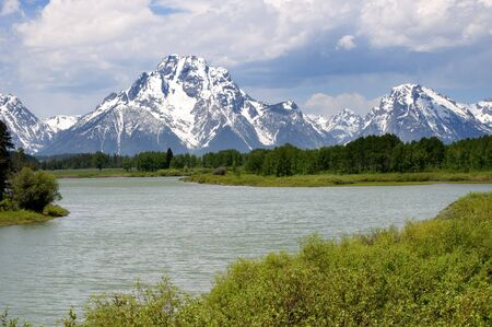 Snake River in Grand Teton National Park is a United States National Park located in northwestern Wyoming, photo