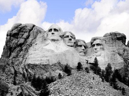 brenda kean: Mount Rushmore in South Dakota USA Editorial