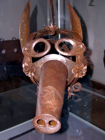 Punishment Mask in the fortress of Hohensalzberg in Salzburg Austria
