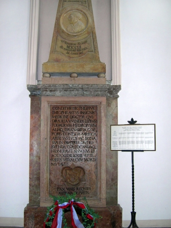 The memorial to Paracelsus in Salzburg Austria