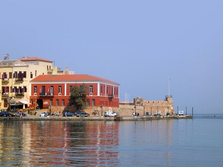 The lovely town of Chania on the Island of Crete Greece Editorial