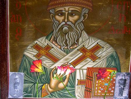 Icon in the Church in Rethymno Crete Greece Stock Photo - 14699881