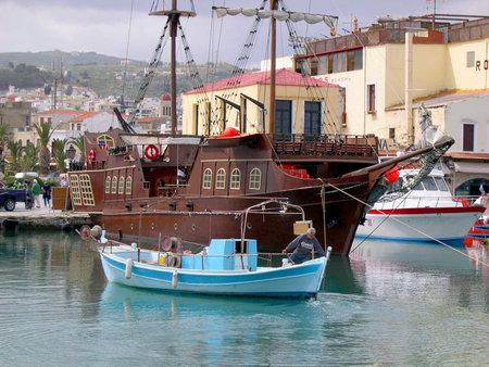 Venetian Harbour in Rethymno Crete Stock Photo - 14699888