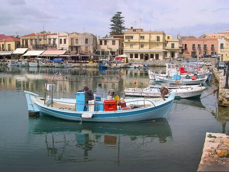 Venetian Harbour in Rethymno Crete Stock Photo - 14699883