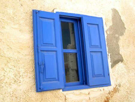 Blue Shutters in Rethymno Crete