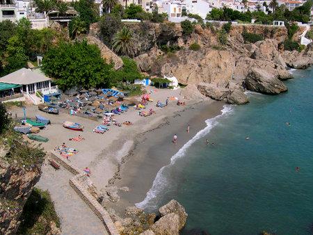 The Coastline of Nerja in Andalucia Spain