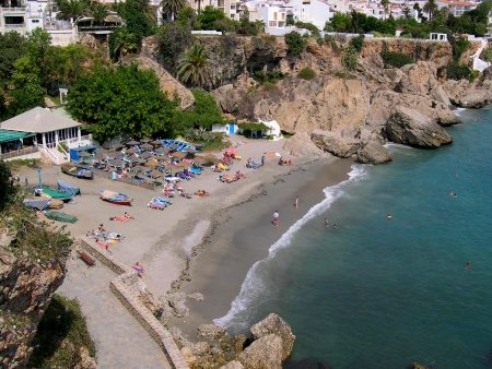 The Coastline of Nerja in Andalucia Spain