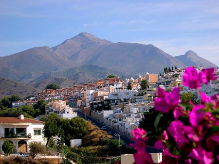 The Alpujarra Mountains from Nerja Andalucia Spain photo