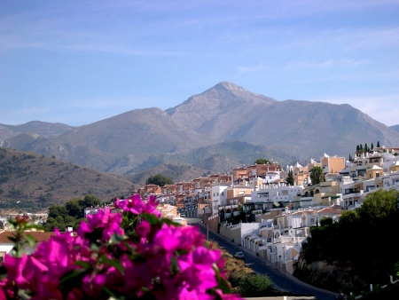 The Alpujarra Mountains from Nerja Andalucia Spain