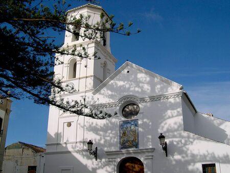 nerja: Parish Church in Nerja Andalucia Spain Stock Photo