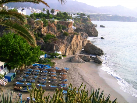 one of the beaches of Nerja Andalucia Spain photo