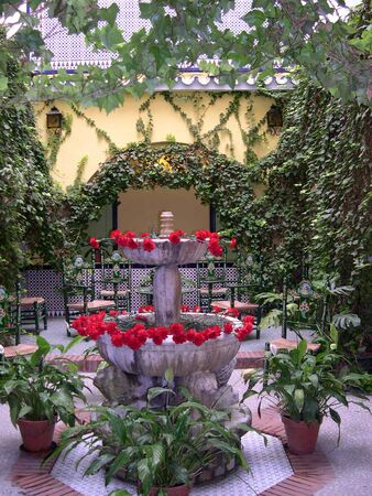 Cool patio in Nerja Spain photo