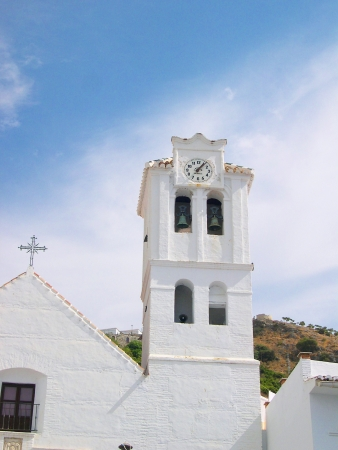 The church in Frigiliana one of the White Villages in Andalucia Spain Stock Photo - 14810006
