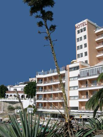 Beach scenes in Nerja, a sleepy Spanish Holiday resort on the Costa Del Sol  near Malaga, Andalucia, Spain, Europe