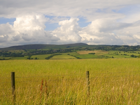 burnley: Pendle Hill from Ightenhill in Burnley Lancashire Stock Photo