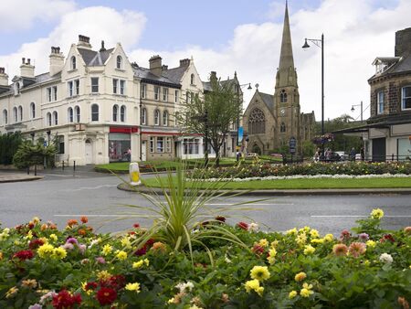 wharfedale: Floral Display in the Spa Town of Ilkley in West Yorkshire England