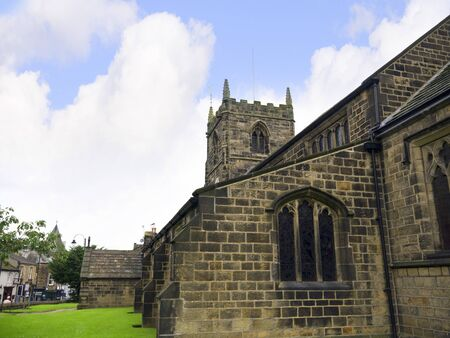 All Saints Church in the Spa Town of Ilkley in West Yorkshire England photo
