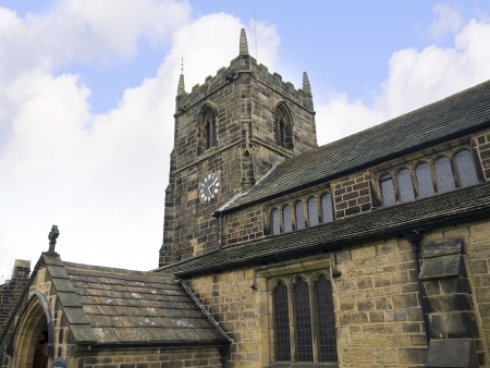wharfedale: All Saints Church in the Spa Town of Ilkley in West Yorkshire England