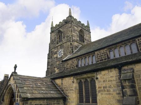 wharfedale: Iglesia de Todos los Santos en la ciudad balneario de Ilkley en West Yorkshire Inglaterra