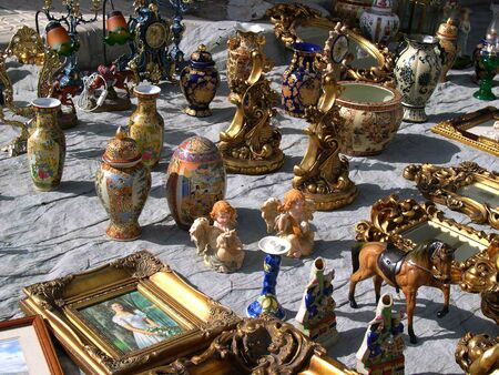 Items for sale on Flea Market in Nerja in Andalucia Spain