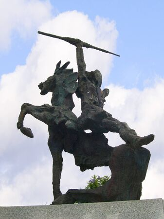 Statue of Don Quixote in Nerja Spain photo