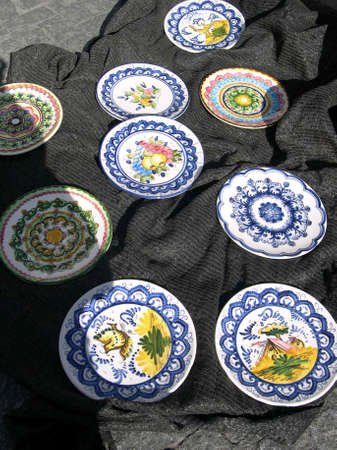 frigiliana: local pottery in Frigiliana one of the most beautiful  white  villages of the Southern Spain area of Andalucia in the Alpujarra mountains