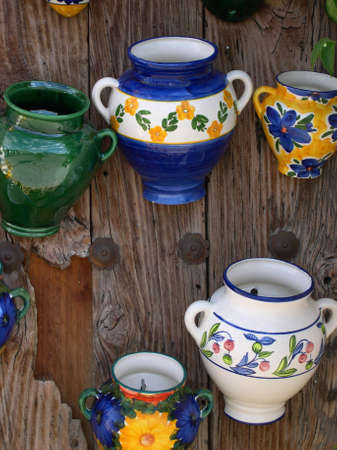 local Pottery in Frigiliana one of the most beautiful  white  villages of the Southern Spain area of Andalucia in the Alpujarra mountains  photo