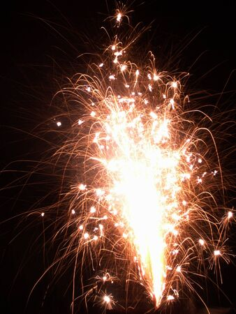 guy fawkes night: Fireworks on Bonfire night in England Stock Photo