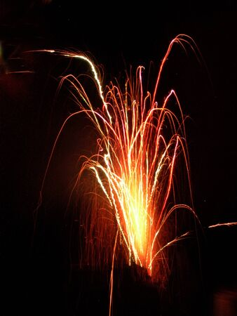 Fireworks on Bonfire night in England Stock Photo
