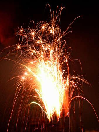 zdradę: Fajerwerki na Bonfire Night w Anglii Zdjęcie Seryjne