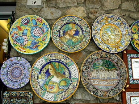 marqueteria: Alfarer�a Tradicional de Sorrento a Ravello Campania sur de Italia